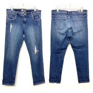 Kut Distressed Celine Slouchy Boyfriend Jeans 10
